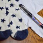 靴下の名前付けはネームペンでOK