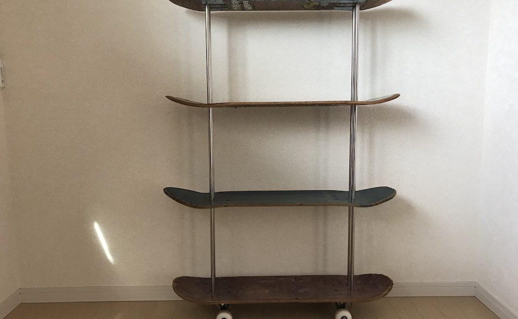 スケートボードの棚 skateboard shelf
