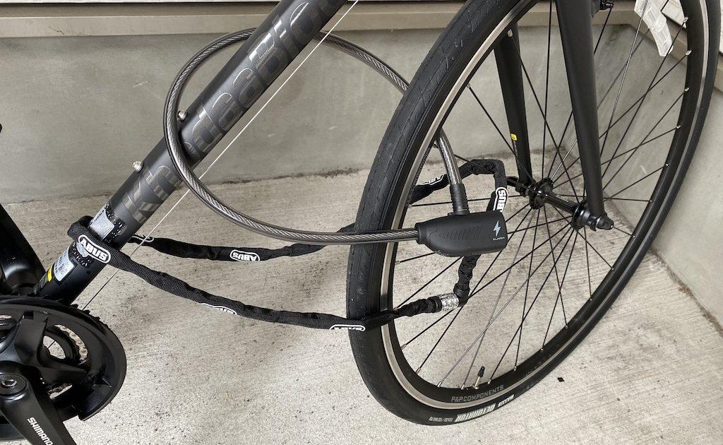 自転車用アラーム付き鍵